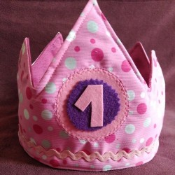 Corona Cumpleaños rosa