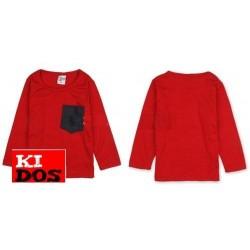 Camiseta Roja con bolsillo