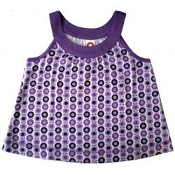 Camiseta Katvig con tirantes mini manzanas lila