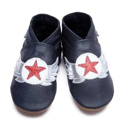 Aviator baby shoes