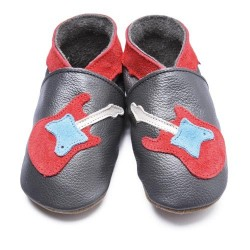 Guitar Metllic baby shoes